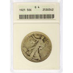 View 3: 1916-PDS & 1921-PDS Walking Liberty Half Dollars G4 (ANACS & PCGS)