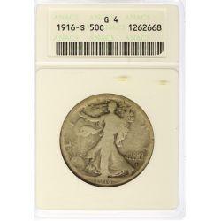 View 4: 1916-PDS & 1921-PDS Walking Liberty Half Dollars G4 (ANACS & PCGS)