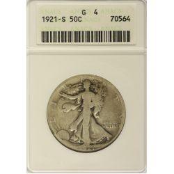 View 5: 1916-PDS & 1921-PDS Walking Liberty Half Dollars G4 (ANACS & PCGS)