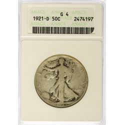 View 6: 1916-PDS & 1921-PDS Walking Liberty Half Dollars G4 (ANACS & PCGS)