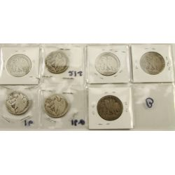 View 2: 1916-PDS, 1921-PDS & 1938-D Walking Liberty Half Dollars