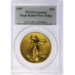 1907 St. Gaudens $20 Gold High Relief (PCGS)
