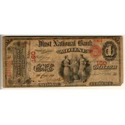 1865 Moline $1 National Currency