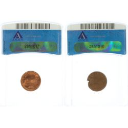 View 2: 1961 & 1995 Lincoln Cent Errors (ANACS)