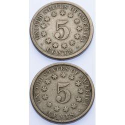 View 2: 1873 & 1875 Shield Nickels