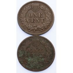 View 2: 1873 & 1874 Indian Head Cents