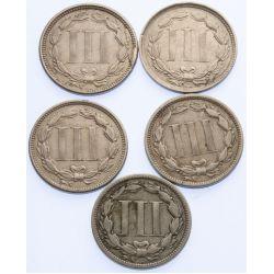 View 2: 3-Cent Pieces (5pcs.)