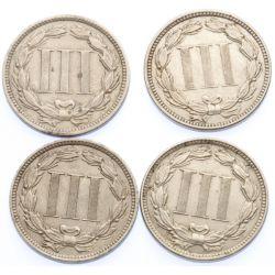 View 2: 3-Cent Pieces (4pcs.)