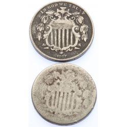 View 2: Shield Nickels (2pcs.)