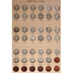 View 2: Mercury Dimes - Complete Set 1916-1945