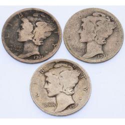 View 3: Mercury Dimes - Complete Set 1916-1945
