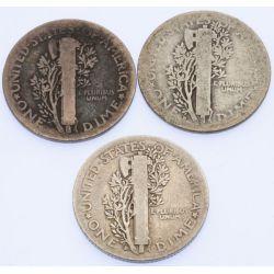 View 4: Mercury Dimes - Complete Set 1916-1945