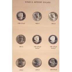 View 2: Susan B. Anthony Dollars - Complete Set with Proofs