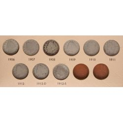 View 3: Liberty Nickels - Complete Set 1883-1912
