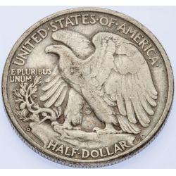 View 2: 1938-D Walking Liberty Half Dollar