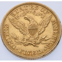 View 2: 1902 $5 Gold