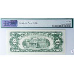View 2: 1963 $2 Star Note FR-1513 58 EPQ (PMG)