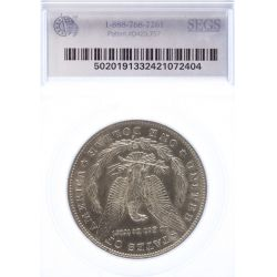 View 2: 1884-S Morgan Dollar MS-61 (SEGS)