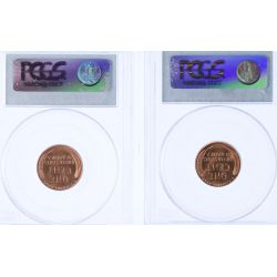 View 2: 1934 MS-66 & 1941-S MS-64 Lincoln Cents (PCGS)