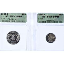 View 4: 1999 Silver Proof Set PR-69 DCAM (ICG)
