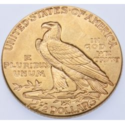 View 2: 1915 $2 1/2 Gold Indian