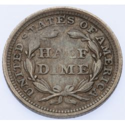 View 2: 1858 Seated Half Dime