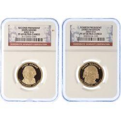 View 2: 2007-S Washington, Jefferson, Adams & Madison Dollars PF-69 UCAM (NGC)