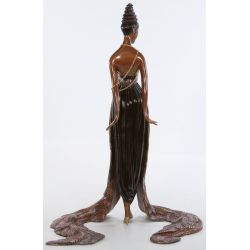 "View 2: ERTE, (Russian, 1892-1990) ""Feathered Gown"" Bronze Statue"
