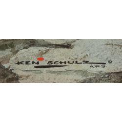 """View 2: Ken Schulz (American) """"Overlooking the Smokies"""" Watercolor"""