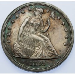 1865 Proof Seated Liberty Dollar
