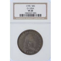 1795 Flowing Hair Half Dollar VF-20 (NGC)