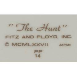 "View 3: Fitz & Floyd ""Hunt"" Dinnerware Set Service for 12"
