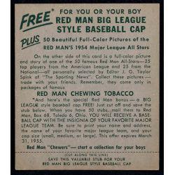 View 2: 1954 Eddie Matthews Red Man Tobacco Card with Tab
