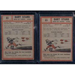 View 2: (2) 1962 Topps Bart Starr #63 Shortprint Football Cards
