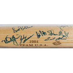 View 3: 1984 USA Olympic Baseball Team Sign Bat with JSA Authentication