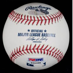 View 2: Signed Mark Buehrle No Hitter 4-18-2007 Baseball with PSA and Steiner Authentication