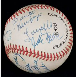 View 2: Football & Baseball Stars Signed Official NL William White Baseball with JSA Authentication