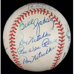 View 3: Football & Baseball Stars Signed Official NL William White Baseball with JSA Authentication
