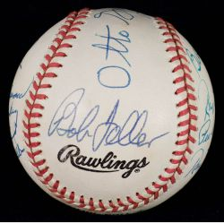 View 5: Football & Baseball Stars Signed Official NL William White Baseball with JSA Authentication