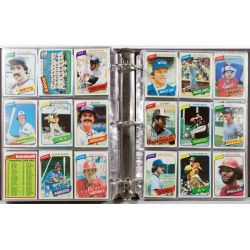 View 5: 1980 Topps Complete Baseball Card Set including Henderson Rookie Card