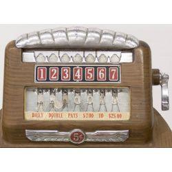 View 2: Buckley Mfg Horse Race Console Nickel Slot Machine
