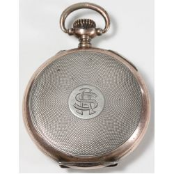 View 2: 800 Silver Pocket Watch with gold wash