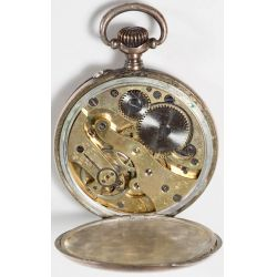 View 3: 800 Silver Pocket Watch with gold wash
