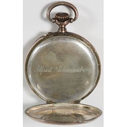 View 4: 800 Silver Pocket Watch with gold wash