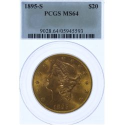 1895-S $20 Gold MS-64 PCGS