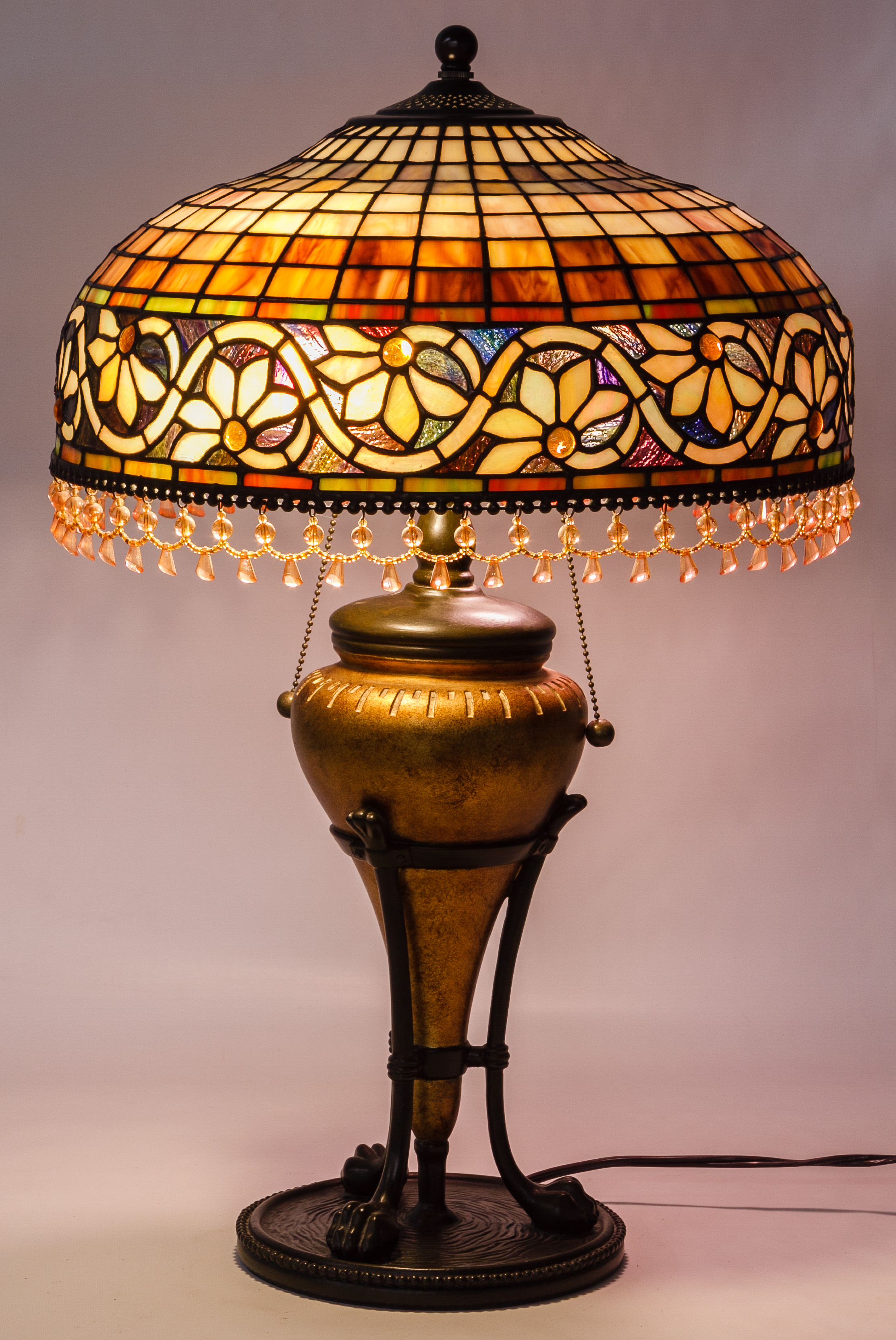 Stained Glass Style Acrylic Shade Table Lamp