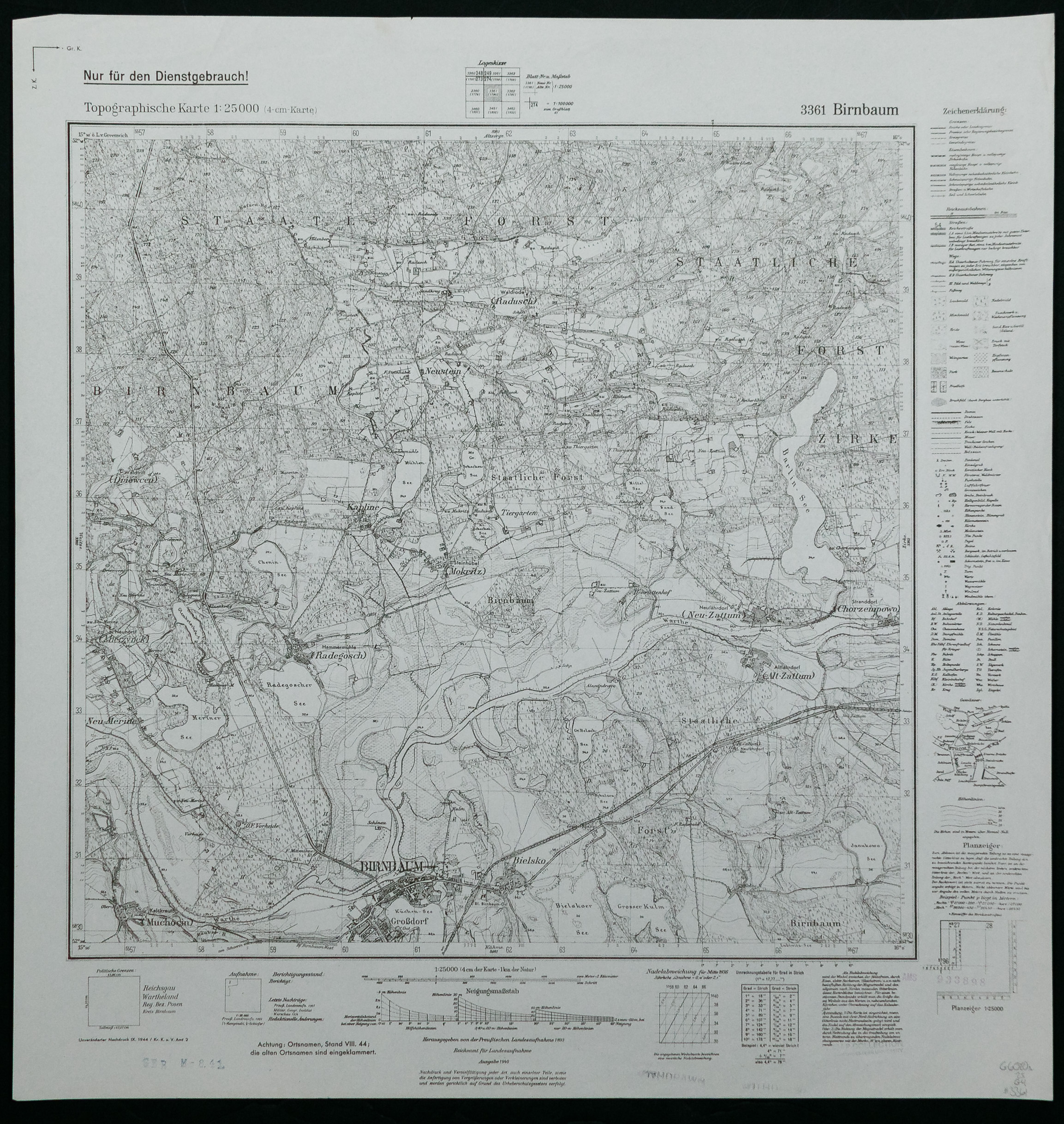 World War II Captured German Service Maps