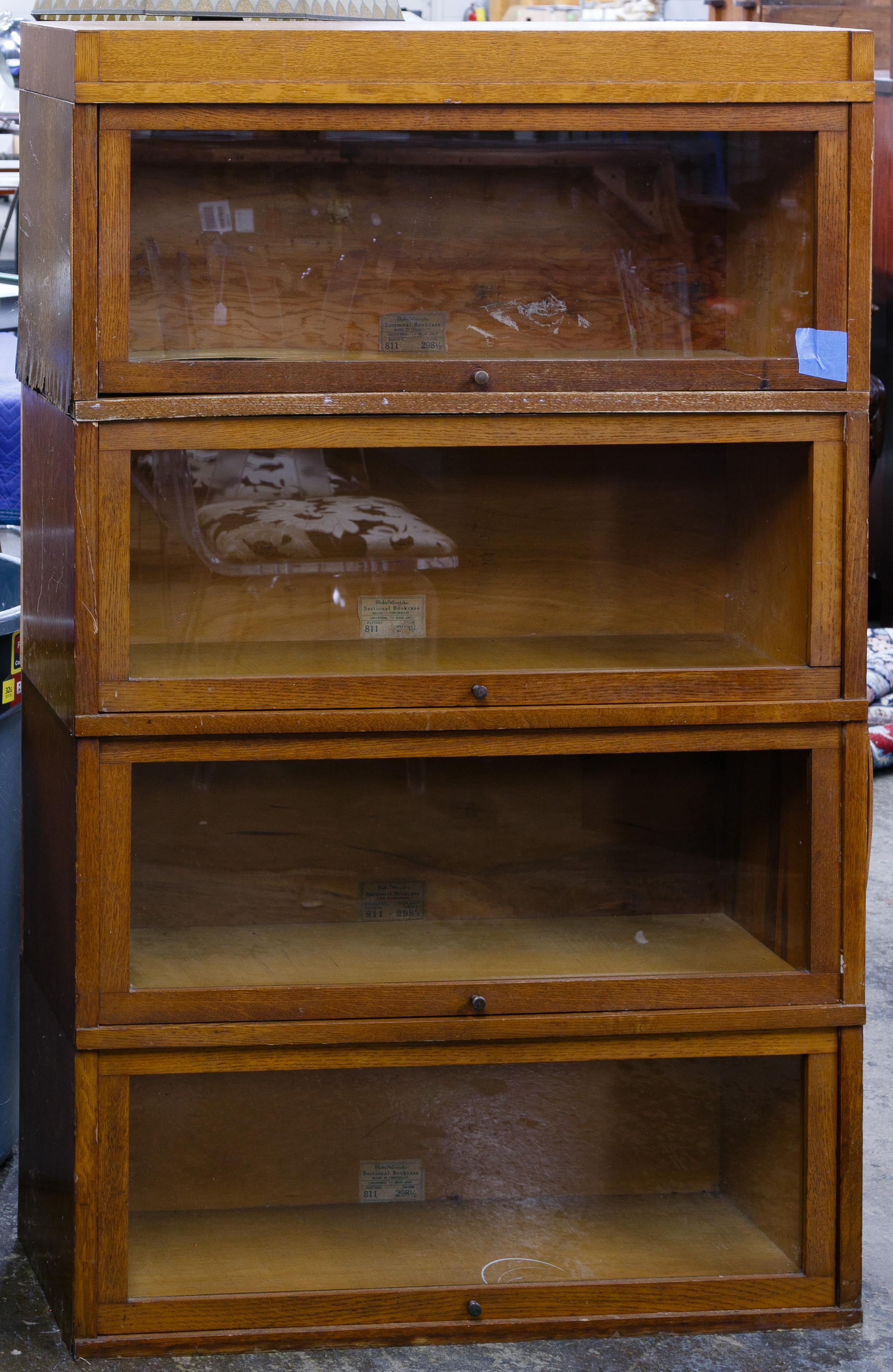 Oak Veneer Barrister Bookcase By Globe Wernicke