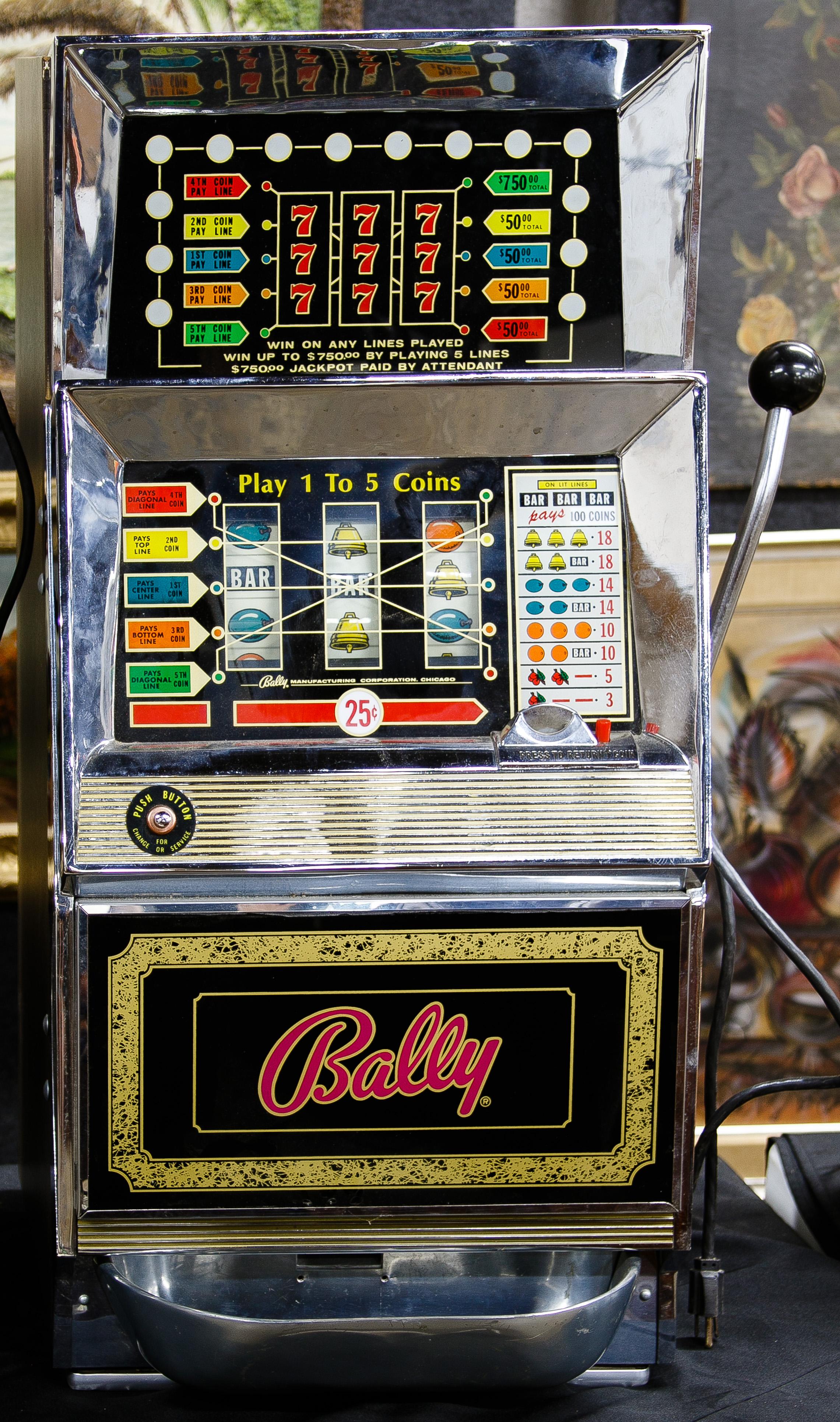 Bally slot machine 5000 plus