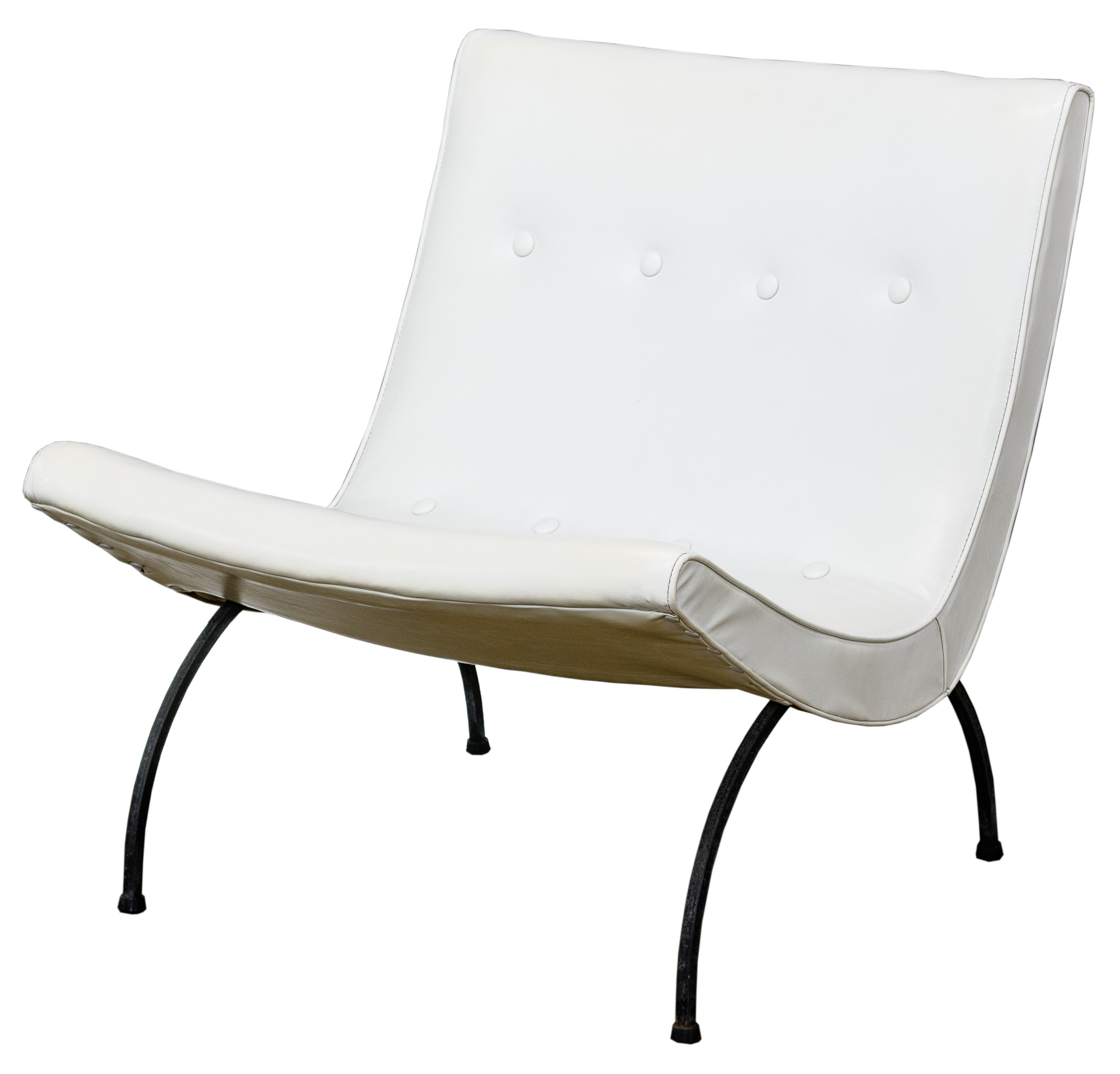 Wondrous Mcm White Vinyl Scoop Chair By Milo Baughman Gmtry Best Dining Table And Chair Ideas Images Gmtryco